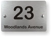 Brushed Aluminium Finish House or Business Plaque