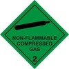 Magnetic sign. Non Flammable Compressed Gas Hazchem2