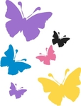 31 Butterfly Stickers in 3 sizes