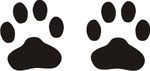 30  Paw Print Stickers in 2 sizes